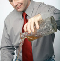 An alcoholic addict refers to that individual who is highly dependant on the drug.